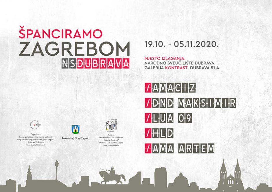 19.10.2020. Plakat Španciramo Zagrebom U Dubravi Tp