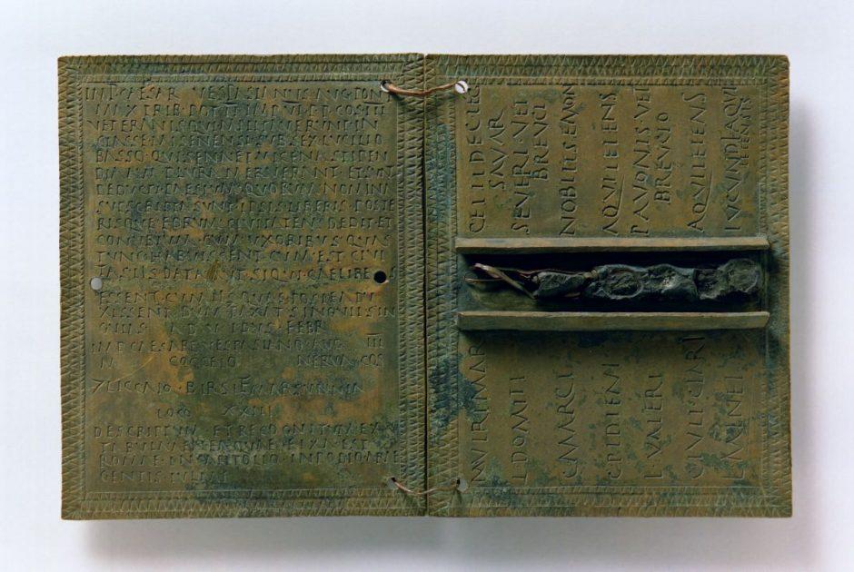 Rimska vojna diploma – izvor: Muzej Brodskog Posavlja